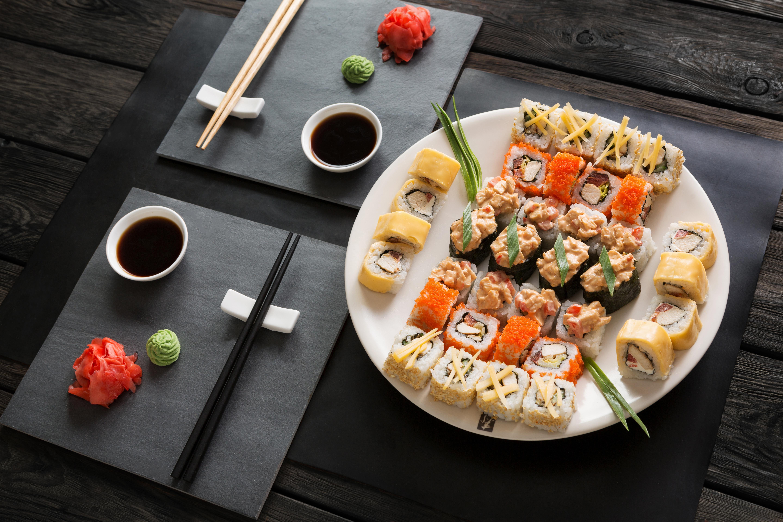 еда роллы васаби имбирь food rolls wasabi ginger скачать