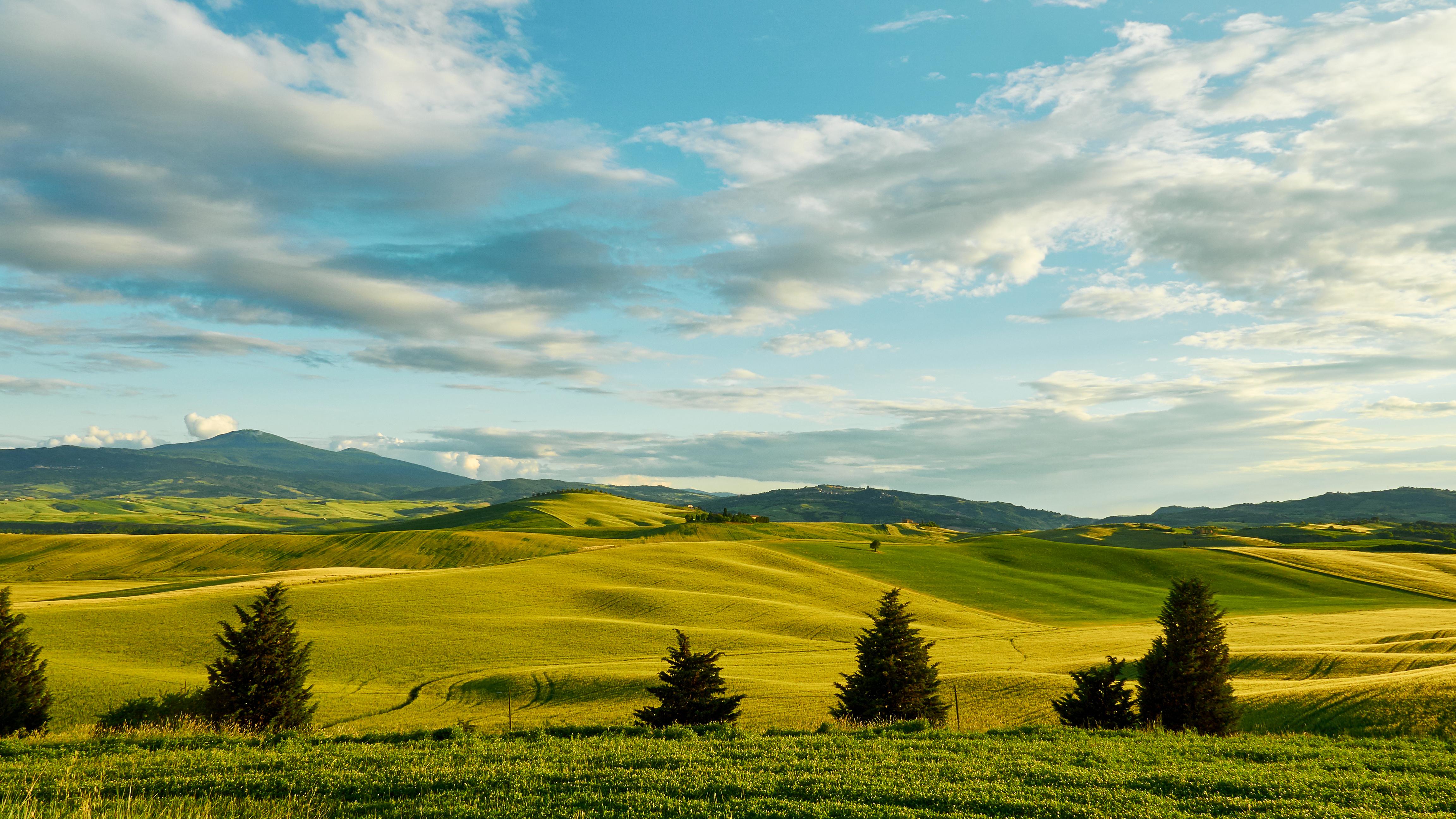 природа поле холм облака небо трава nature field hill clouds the sky grass без смс