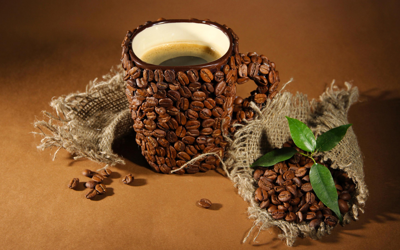 Кружка из кофейных зерен без смс
