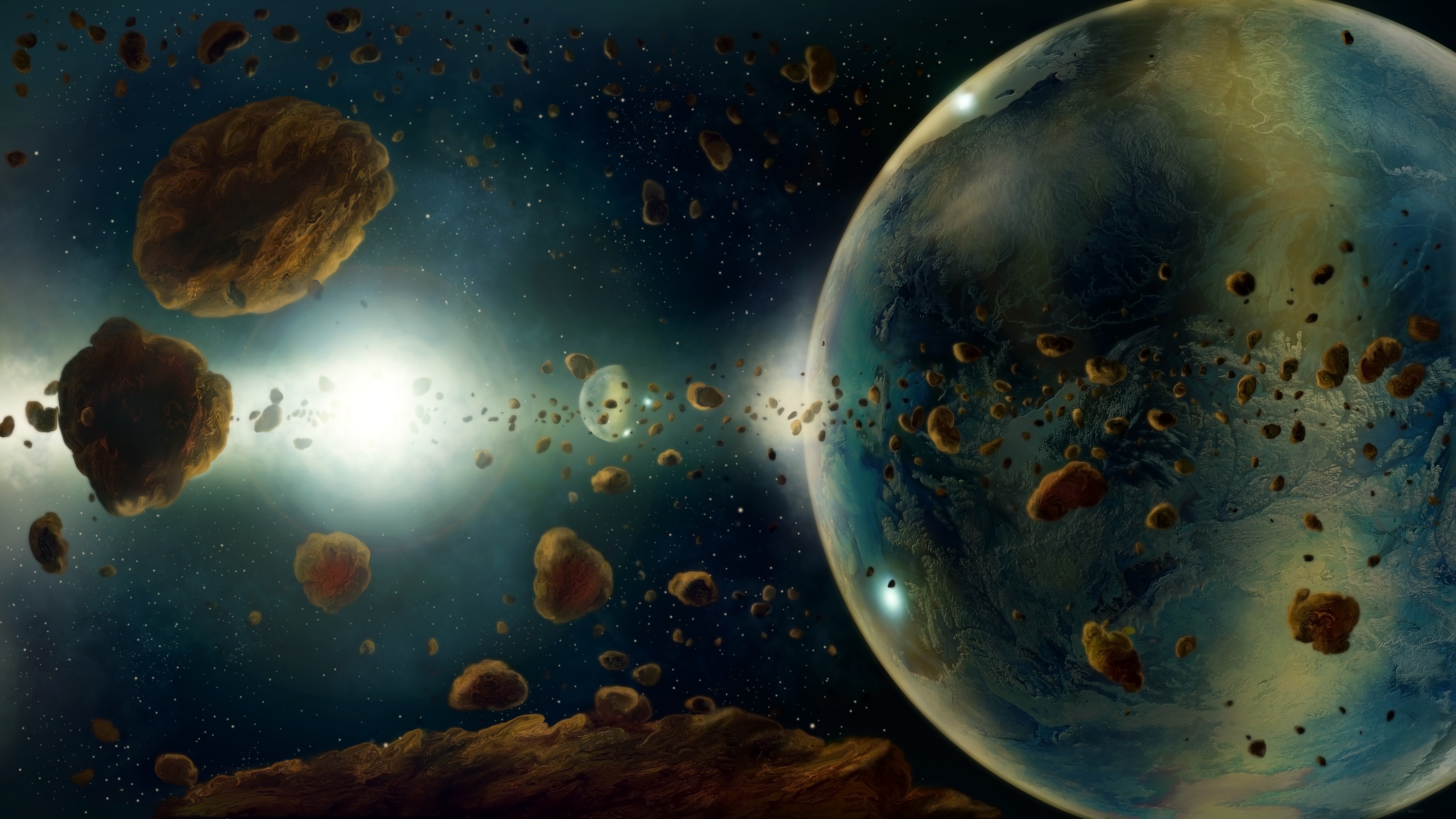 asteroid planets - HD1920×1080