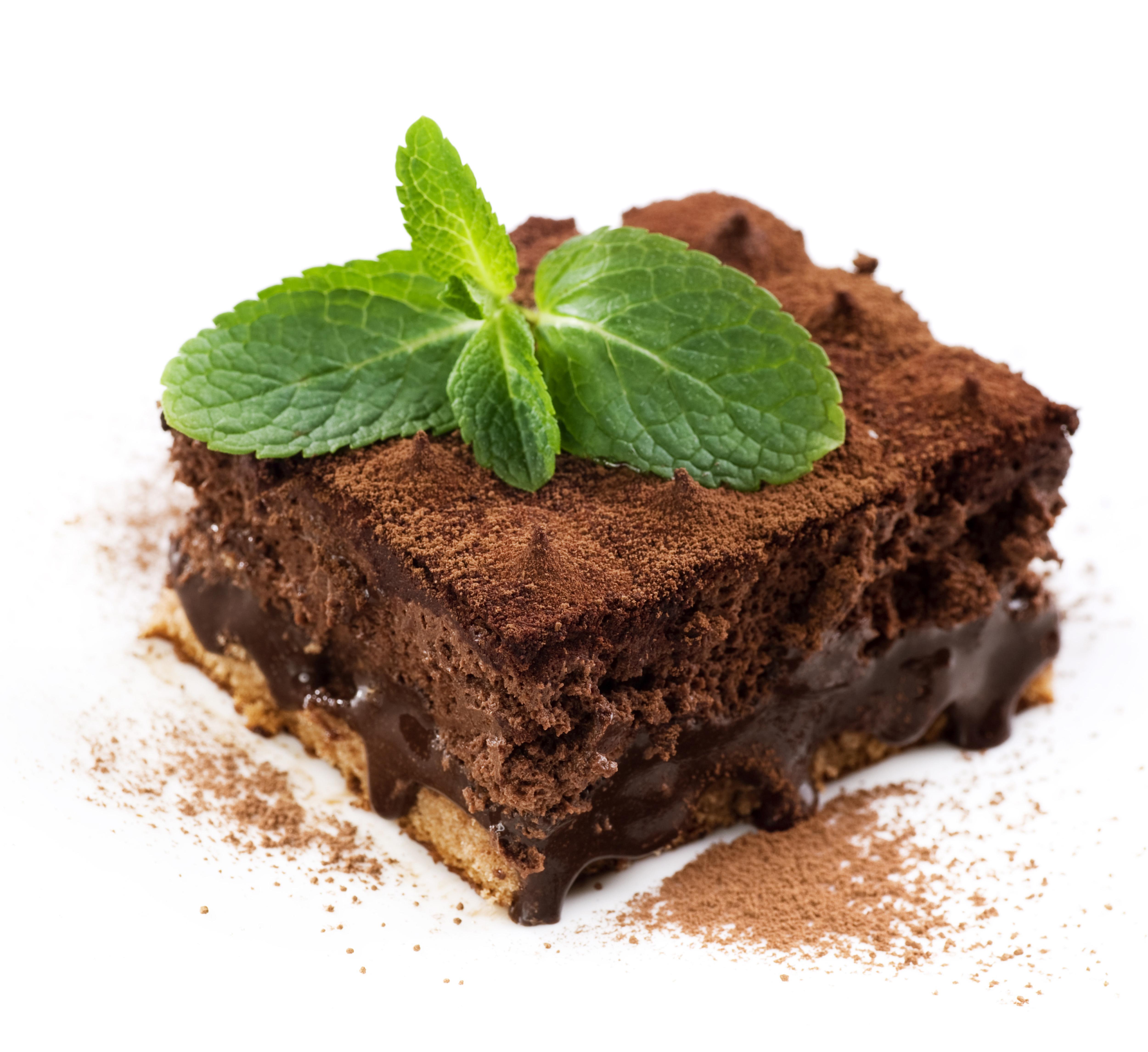 Фотография Пища Пирожное Шоколад Кусок Какао порошок Торты 5000x4582 Еда Продукты питания часть кусочки кусочек