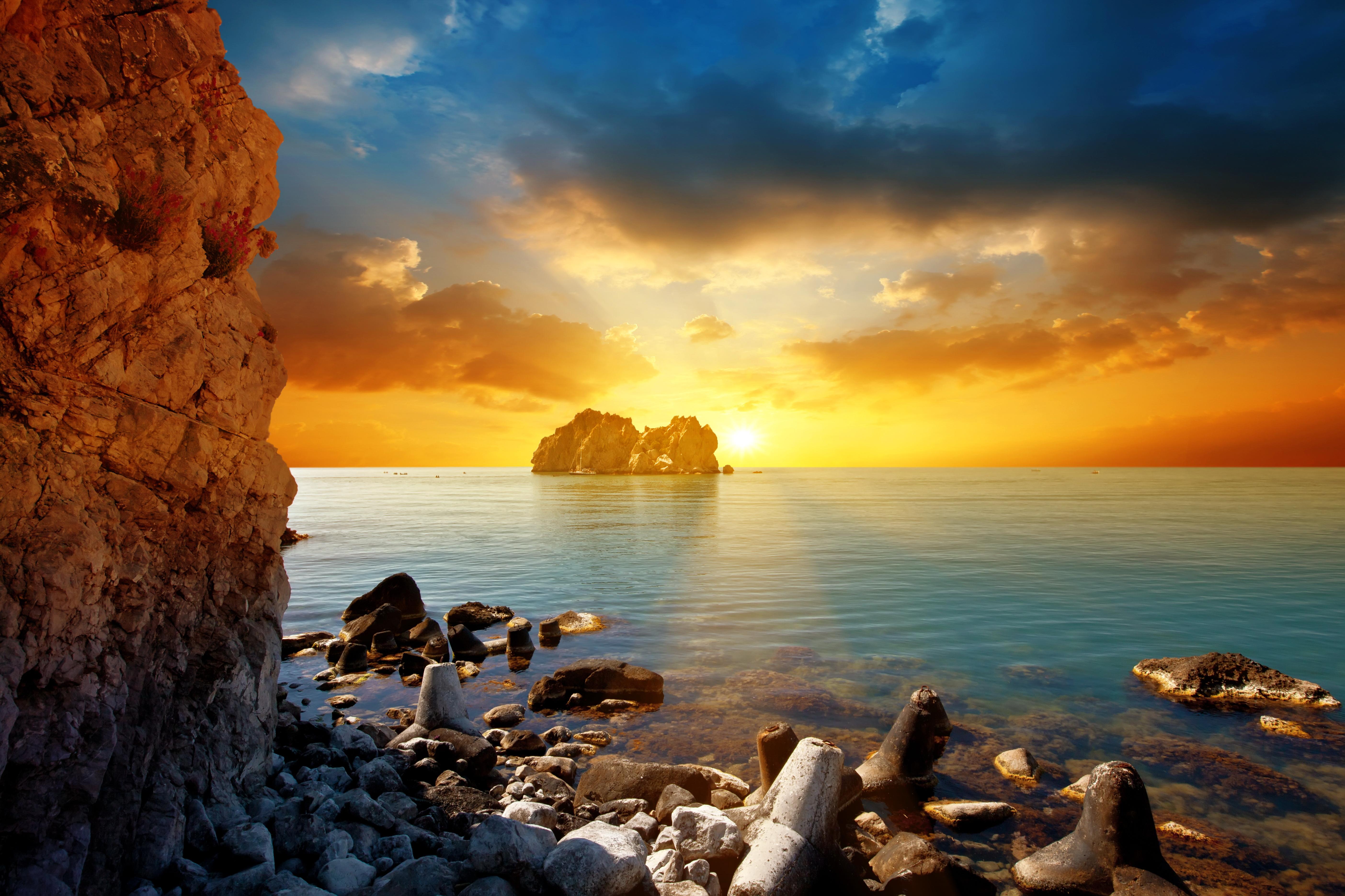 море вечер камни загрузить
