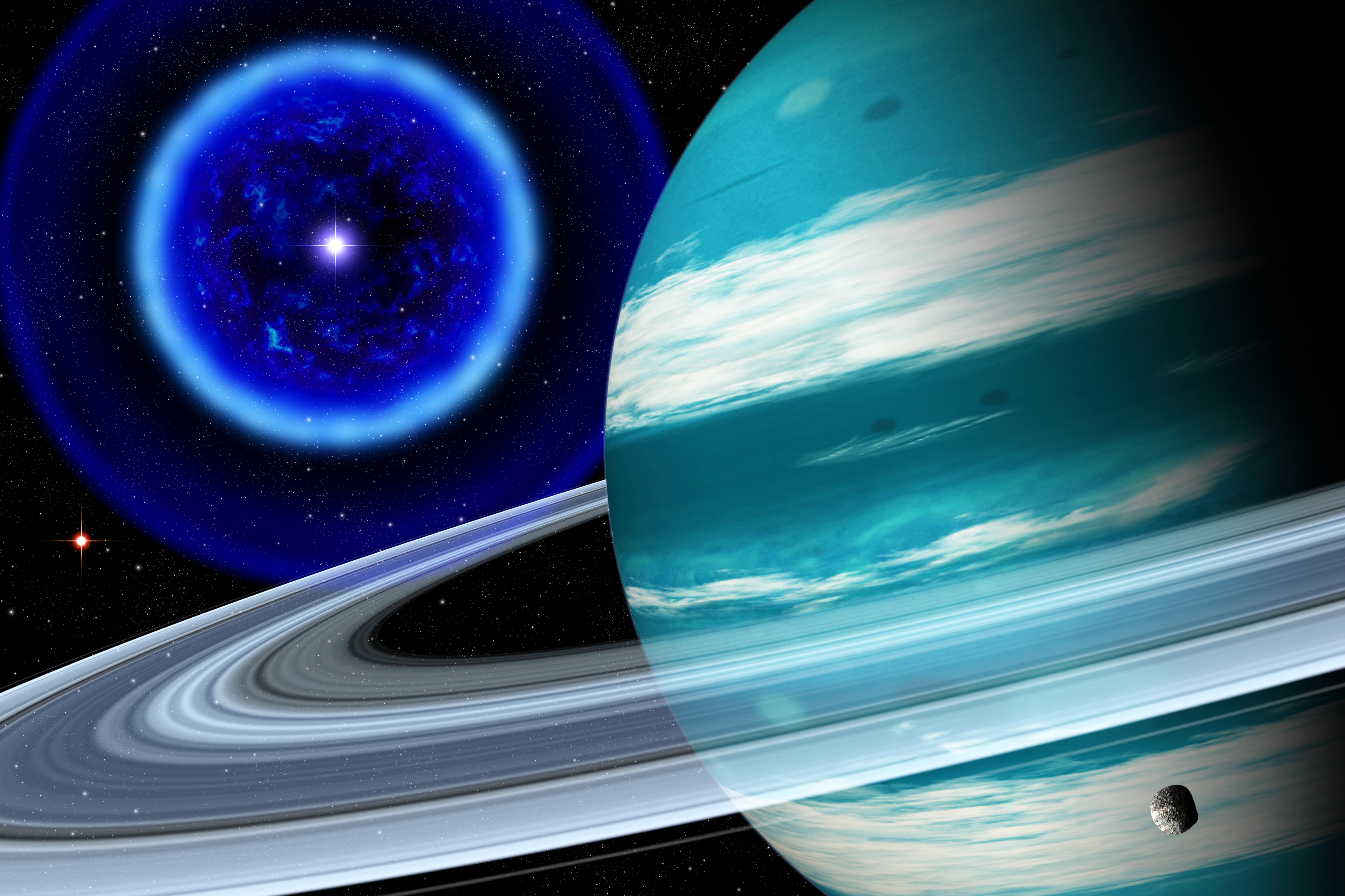 three planets aligned - HD