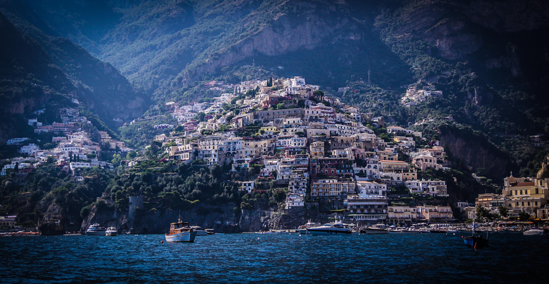 амальфи Побережье италия море горы бесплатно