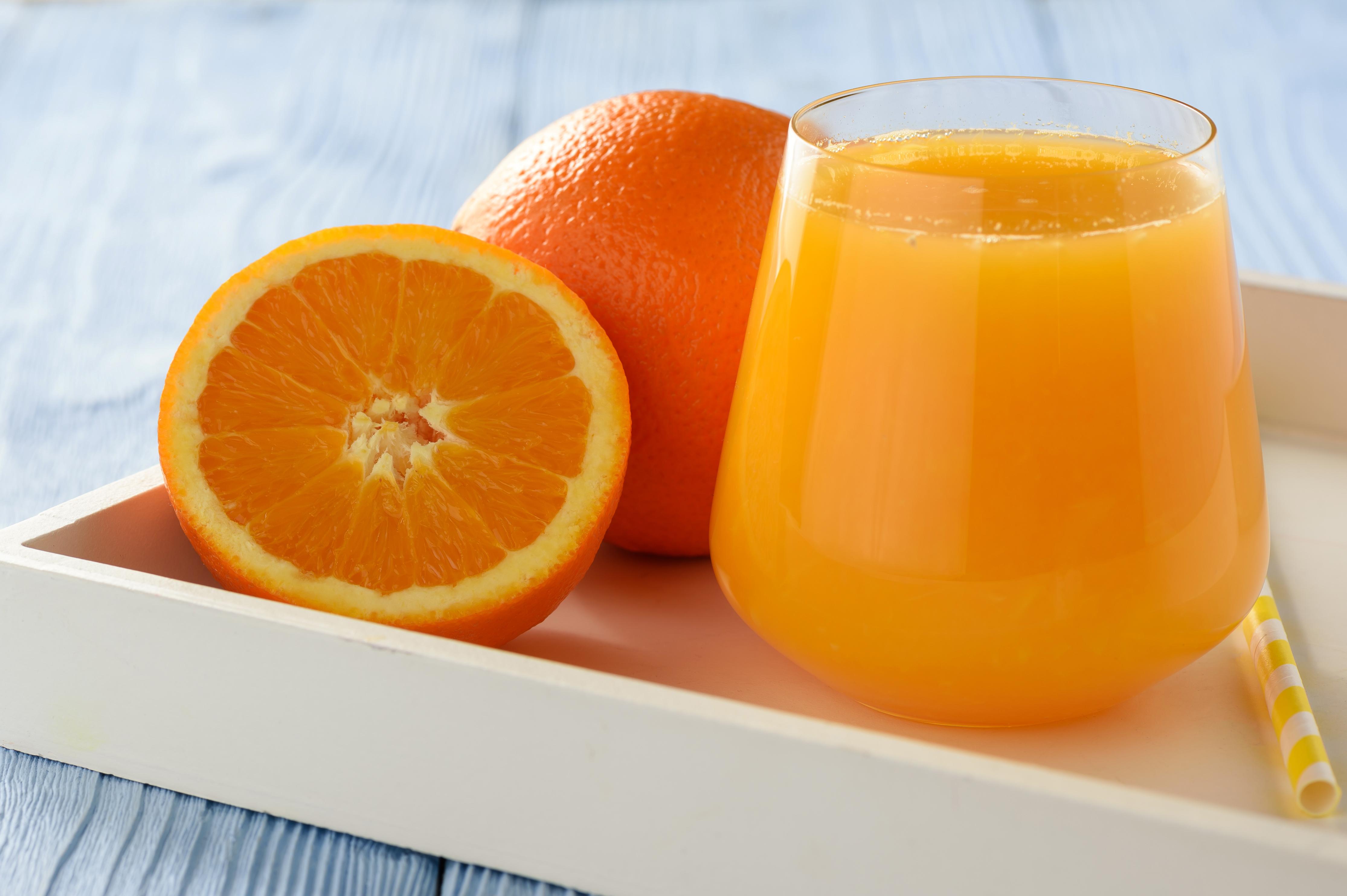 Фото Сок Апельсин стакане Пища Стакан стакана Еда Продукты питания