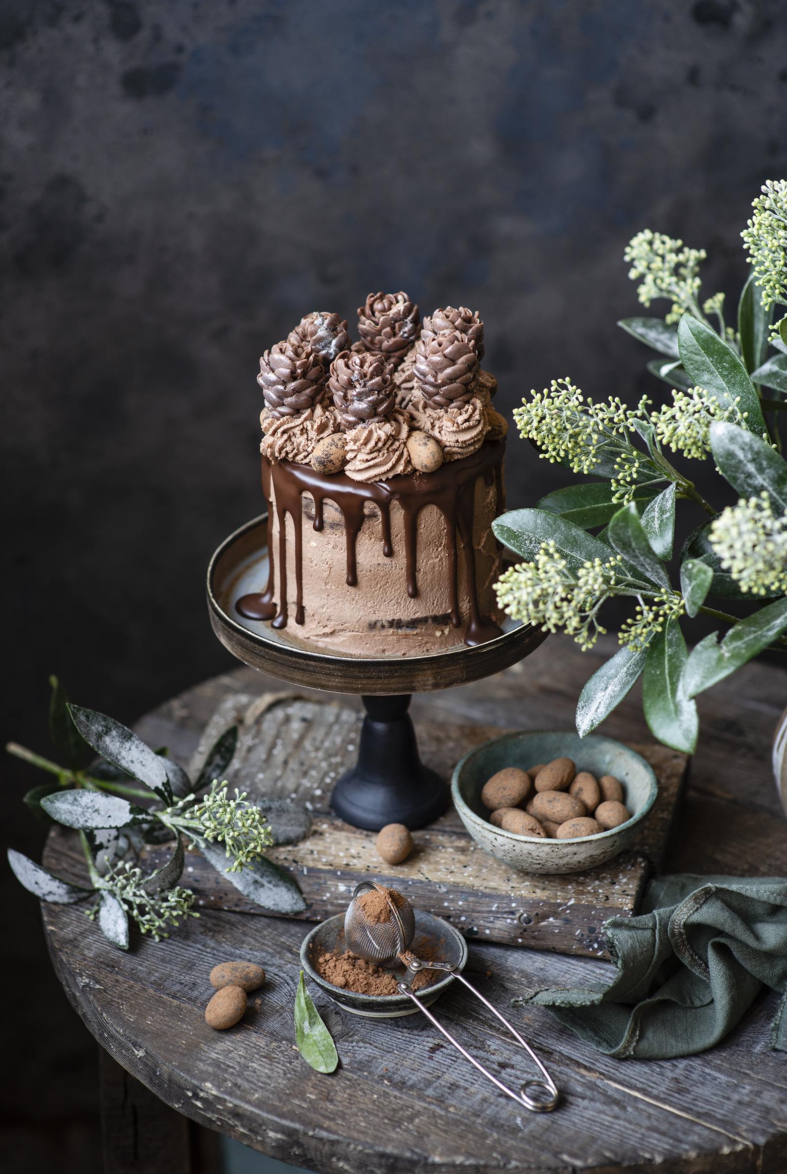 Фото Шоколад Торты Какао порошок Еда Сладости дизайна  для мобильного телефона Пища Продукты питания сладкая еда Дизайн