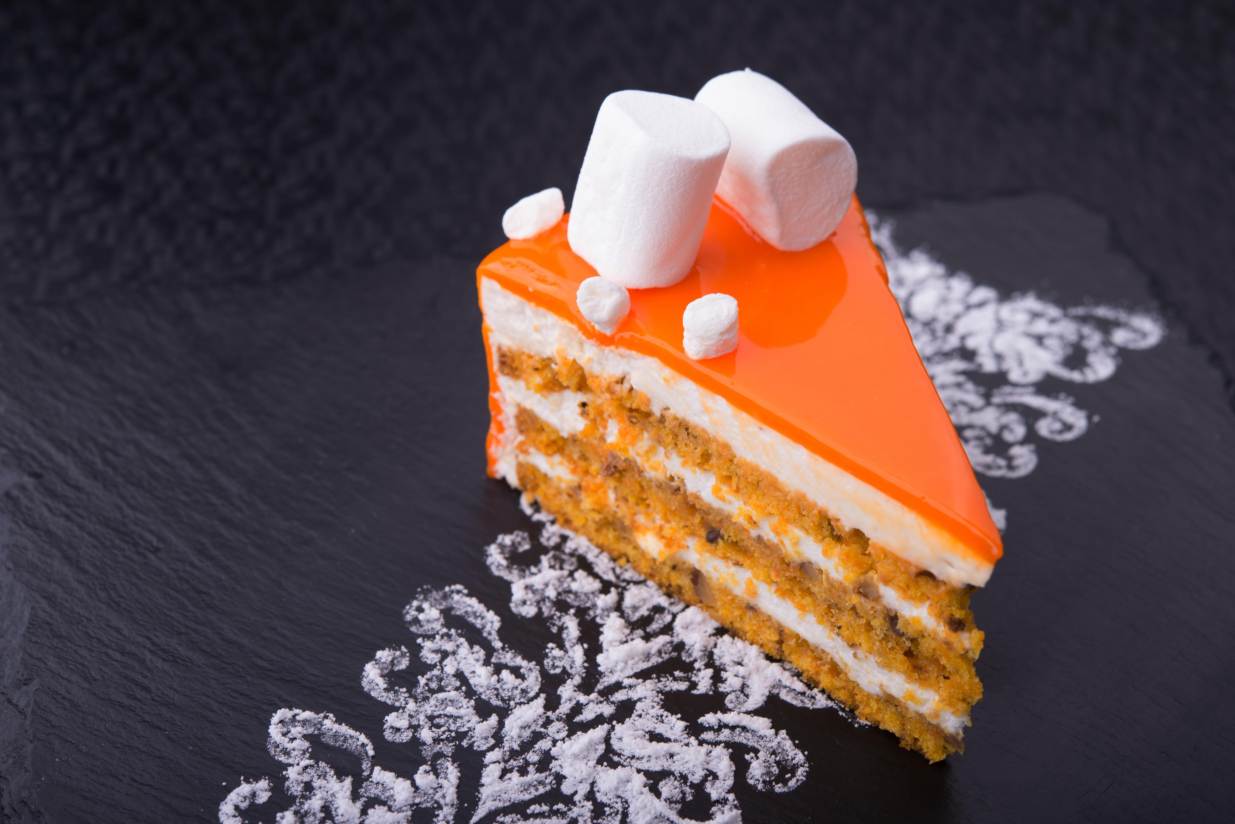Картинки Торты зефирки часть Десерт Пища Пирожное Маршмэллоу Кусок кусочки кусочек Еда Продукты питания