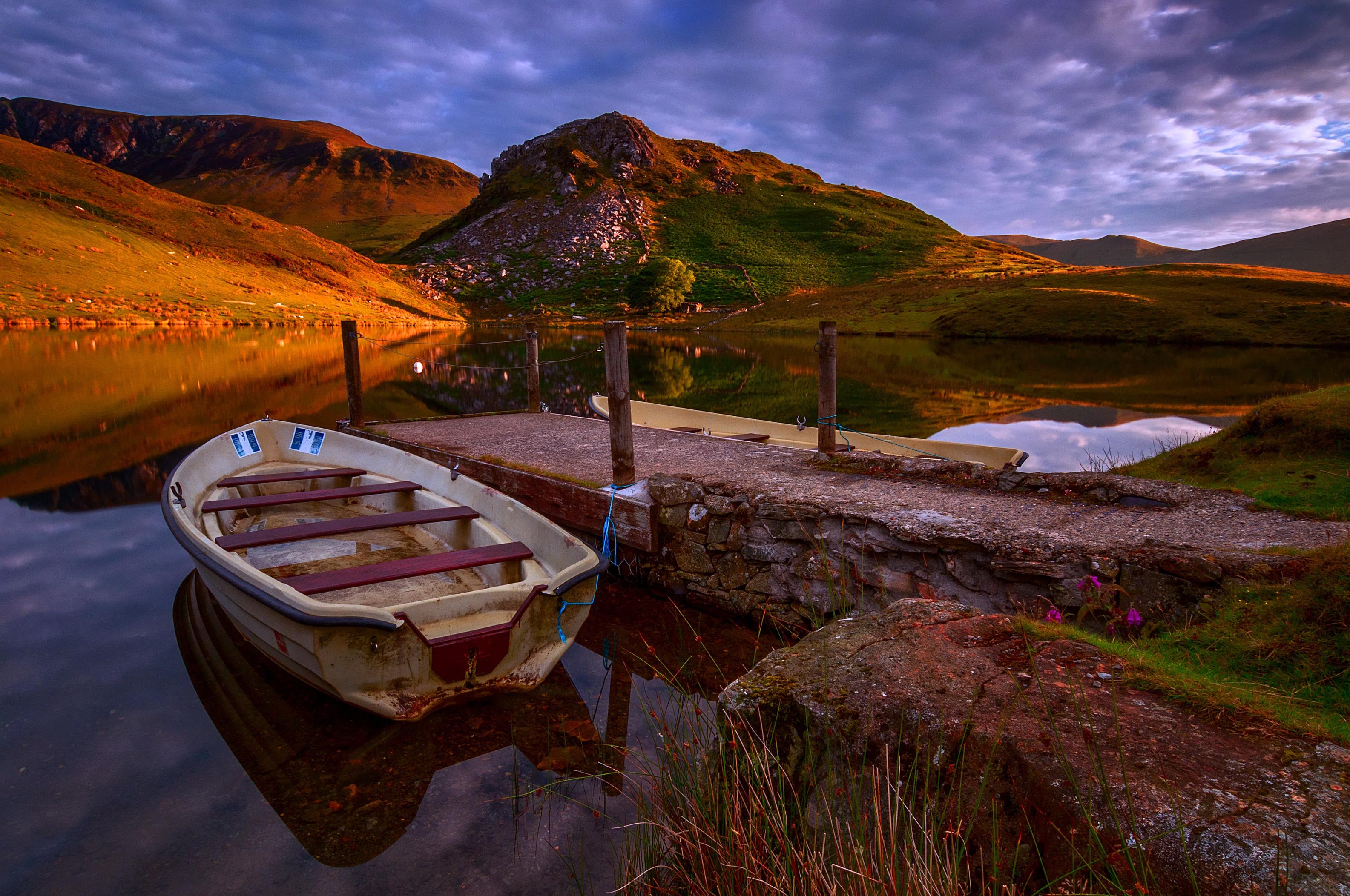 замки, озеро, лодка бесплатно