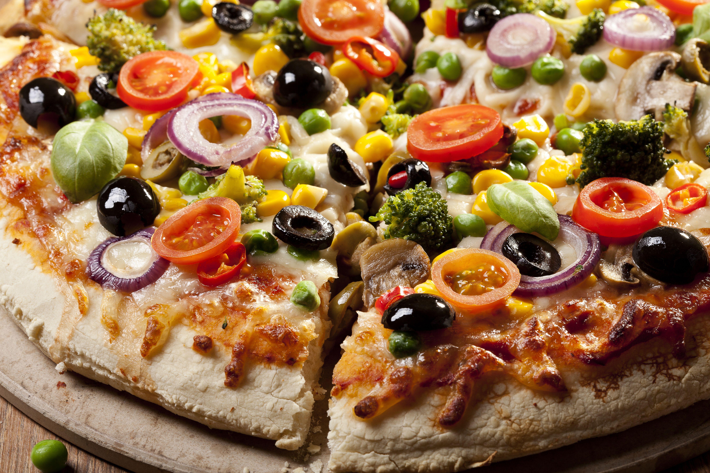 Фото Пища Пицца Оливки вблизи 6000x4000 Еда Продукты питания Крупным планом