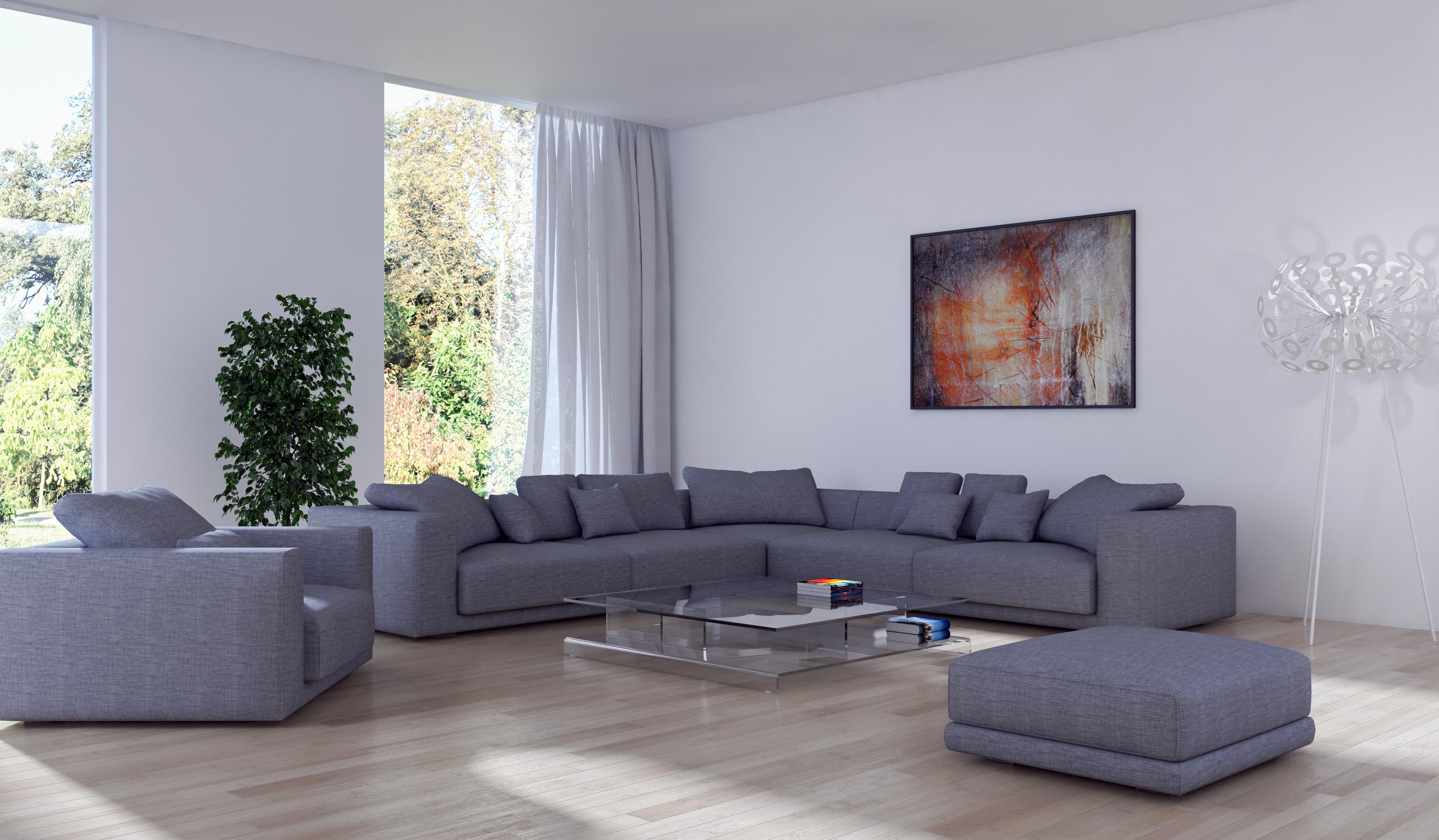 Обои для рабочего стола гостевая 3д Интерьер Диван Кресло дизайна 4109x2400 Гостиная 3D Графика диване Дизайн