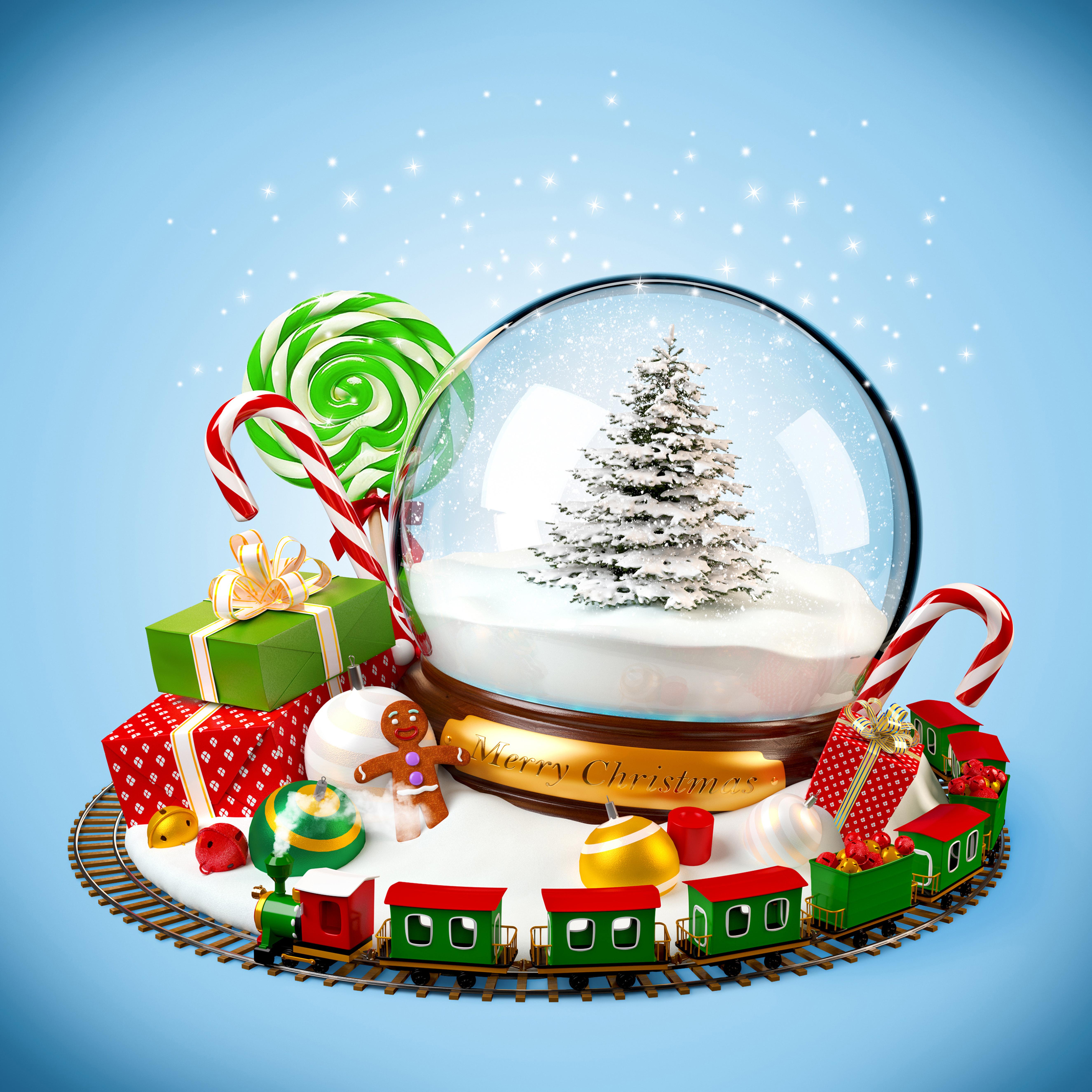 праздник поезд игрушка ель рождество новый год без смс