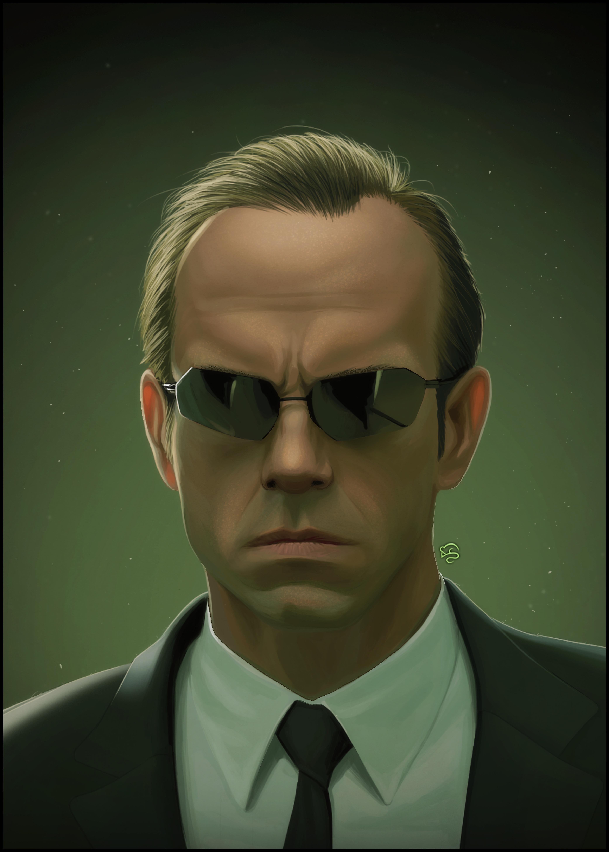 Обои the matrix, очки, матрица, hugo weaving, agent smith. Фильмы foto 7