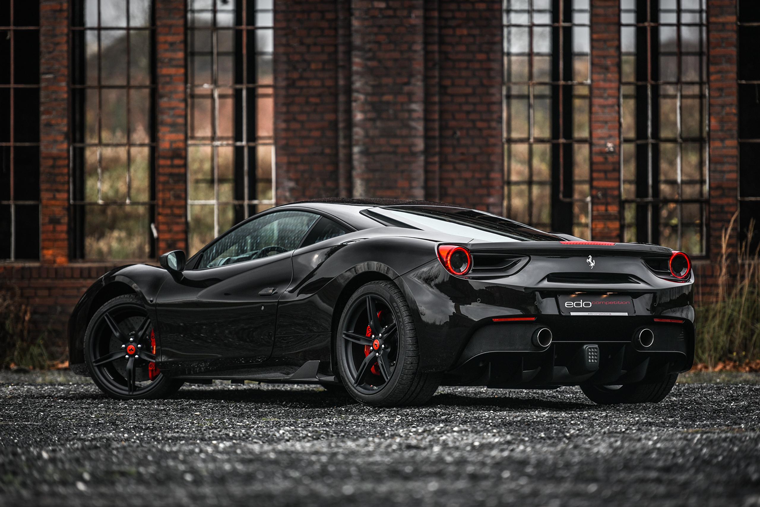 черный автомобиль ferrari gte hdr3 бесплатно