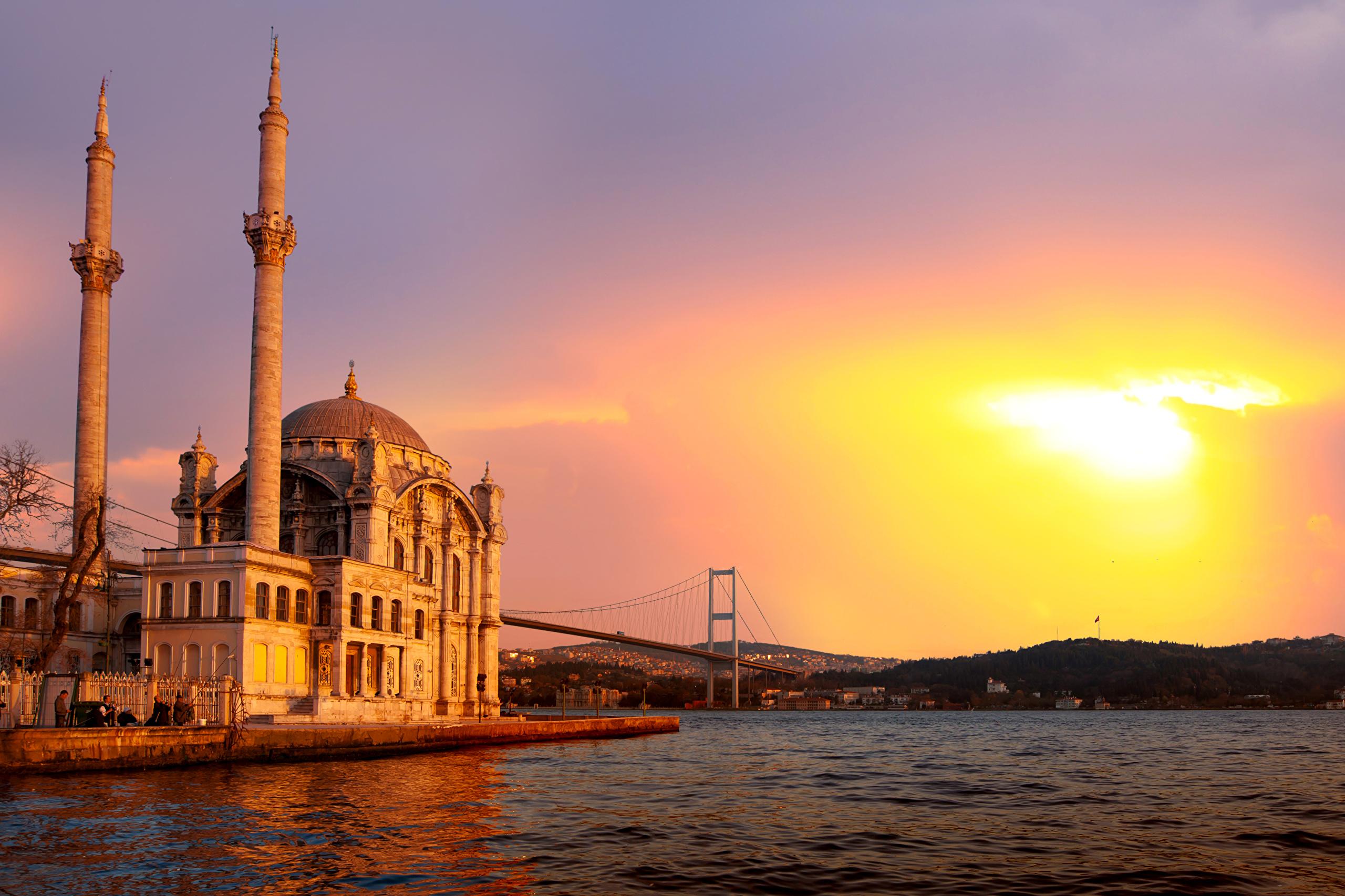 Турция Стамбул закат скачать