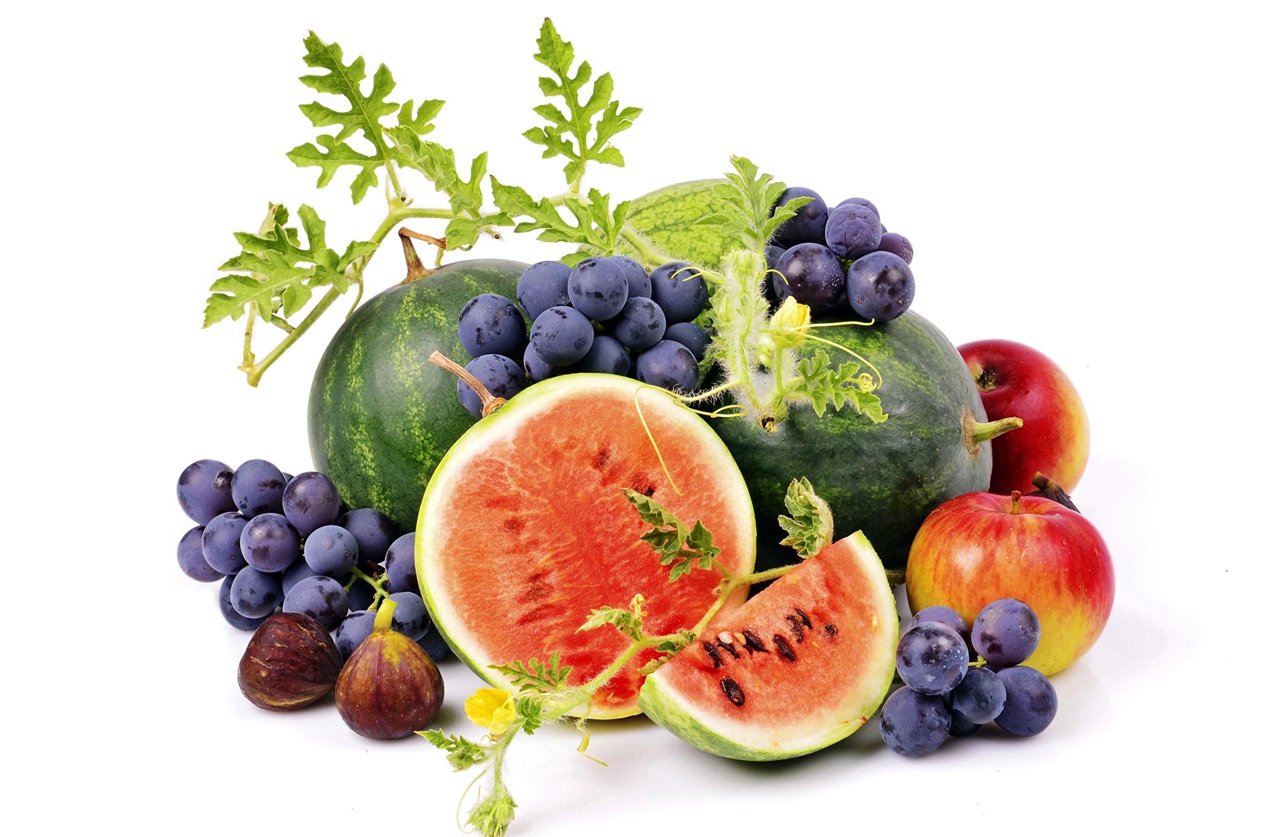Еда фрукты корзина яблоки арбуз Food fruit basket apples watermelon загрузить