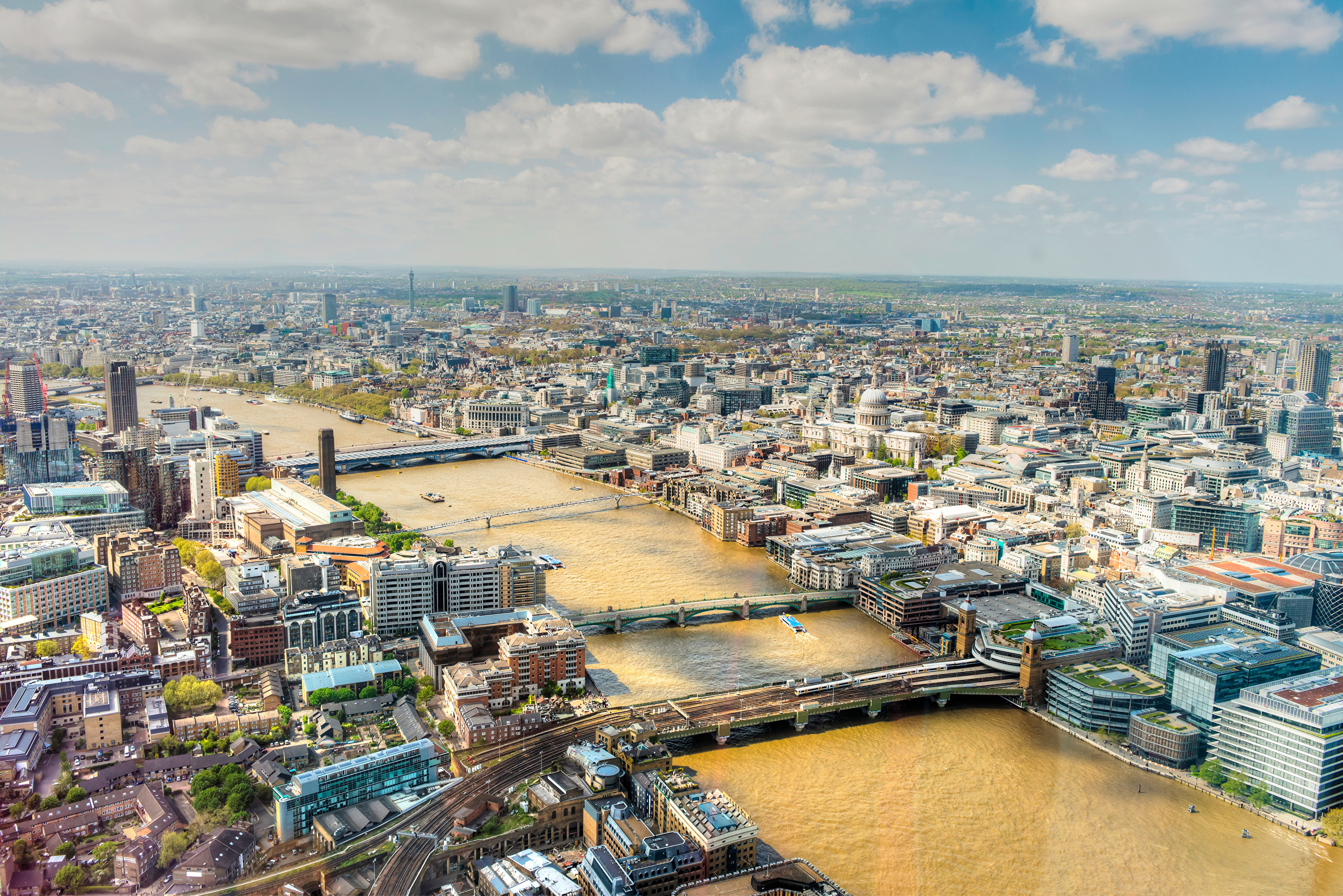 Лондон с высоты темза скачать