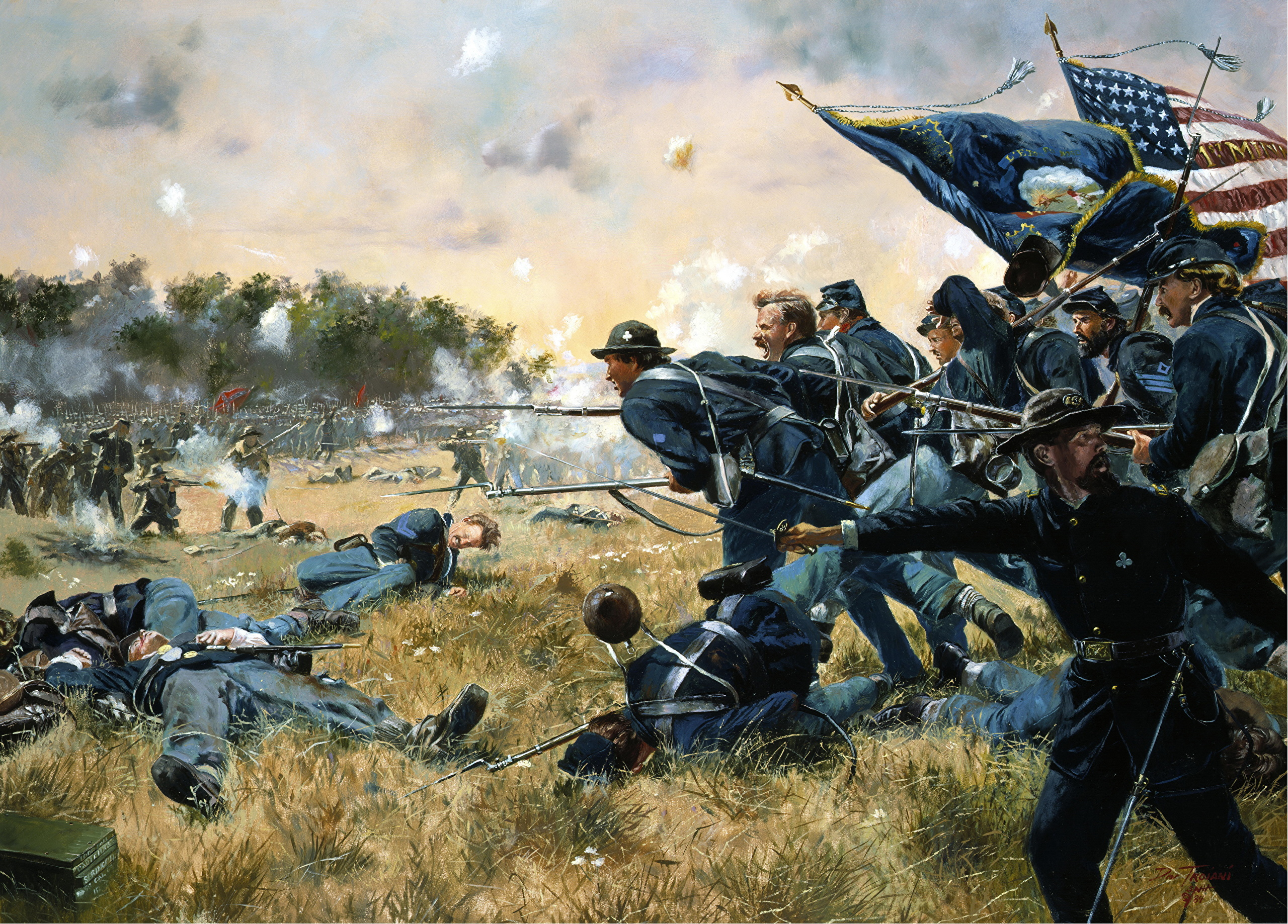 the soldier in battle of gettysburg were fighting for another mans freedom Some historians disagree with the view that the battle of gettysburg was the the high water mark of the confederacy they point out that lee left the field with his.