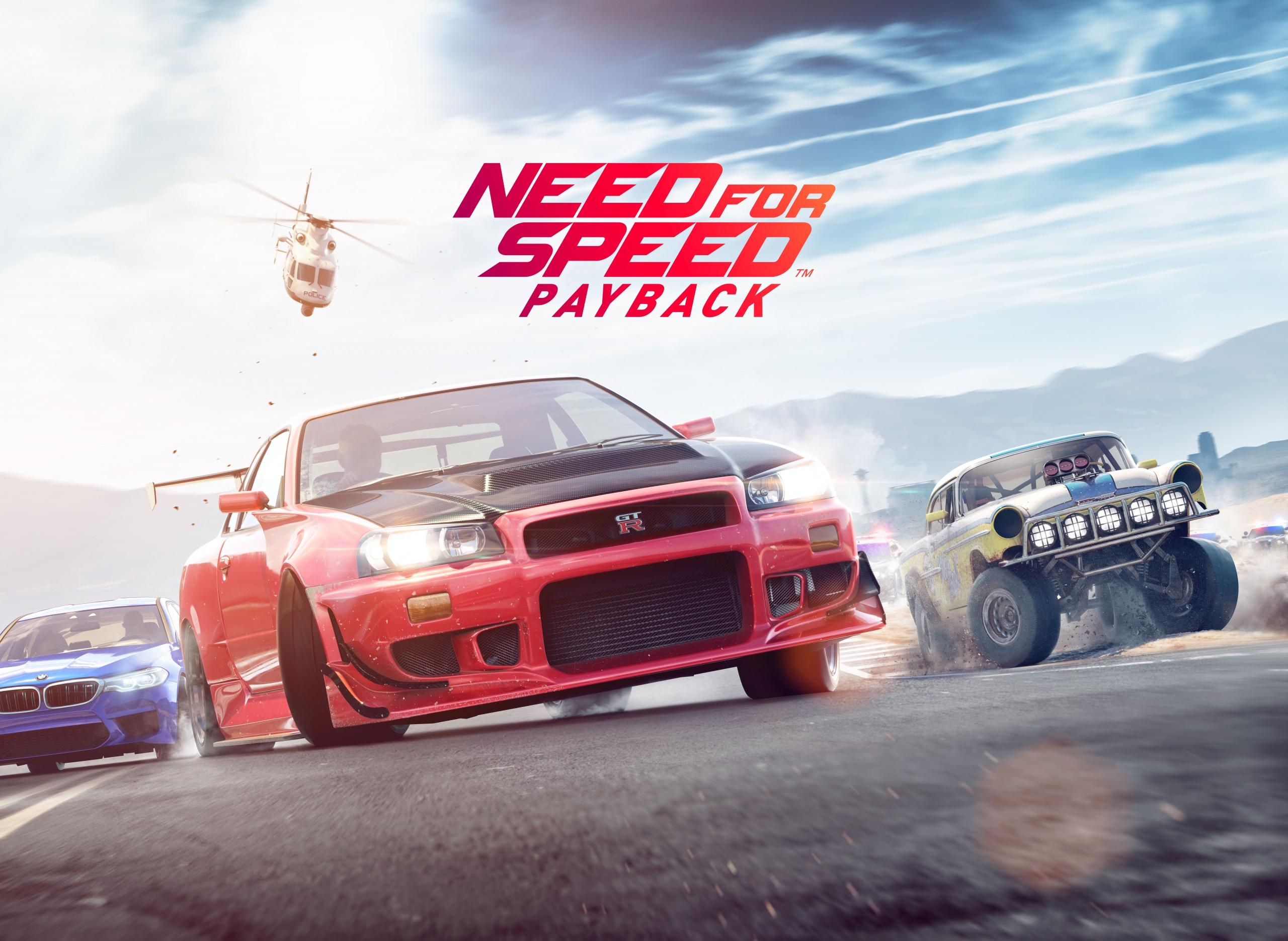 Фото Need for Speed Payback Игры 2560x1870 компьютерная игра
