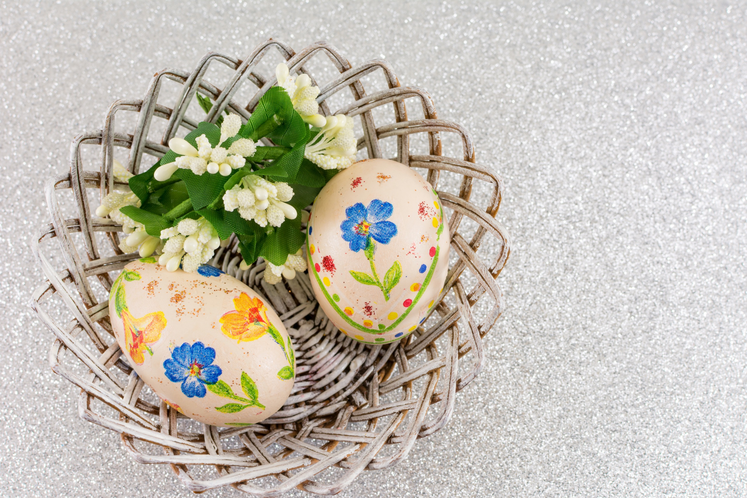 Фотографии Пасха яиц Двое Дизайн 2560x1706 яйцо Яйца яйцами 2 вдвоем дизайна