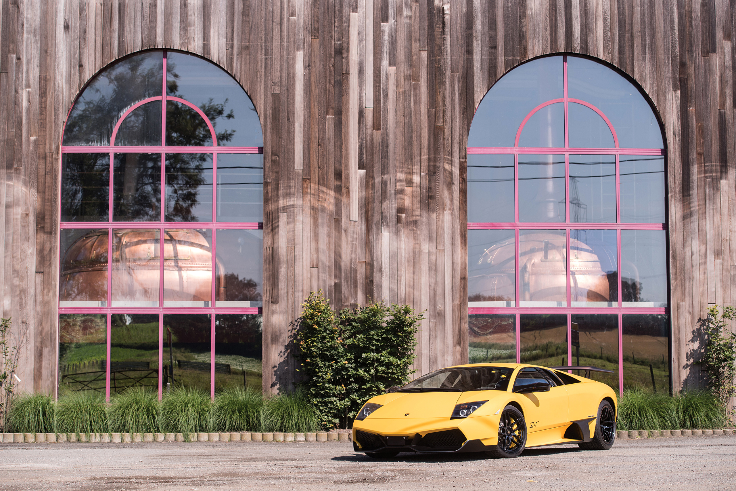 Картинки 2009-10 Lamborghini Murciélago LP 670-4 SuperVeloce Worldwide Желтый Автомобили 2560x1706 Ламборгини желтых желтые желтая авто машина машины автомобиль