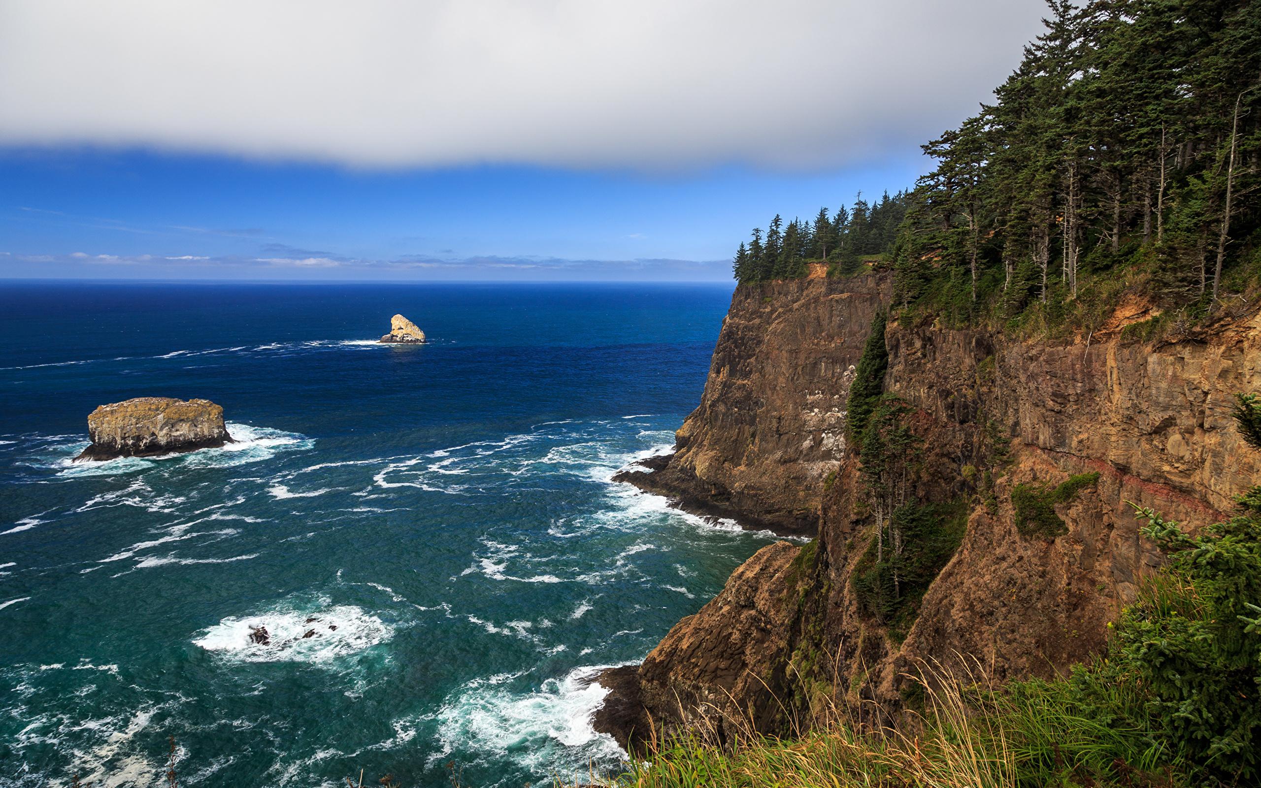 природа горы скалы море берег без смс