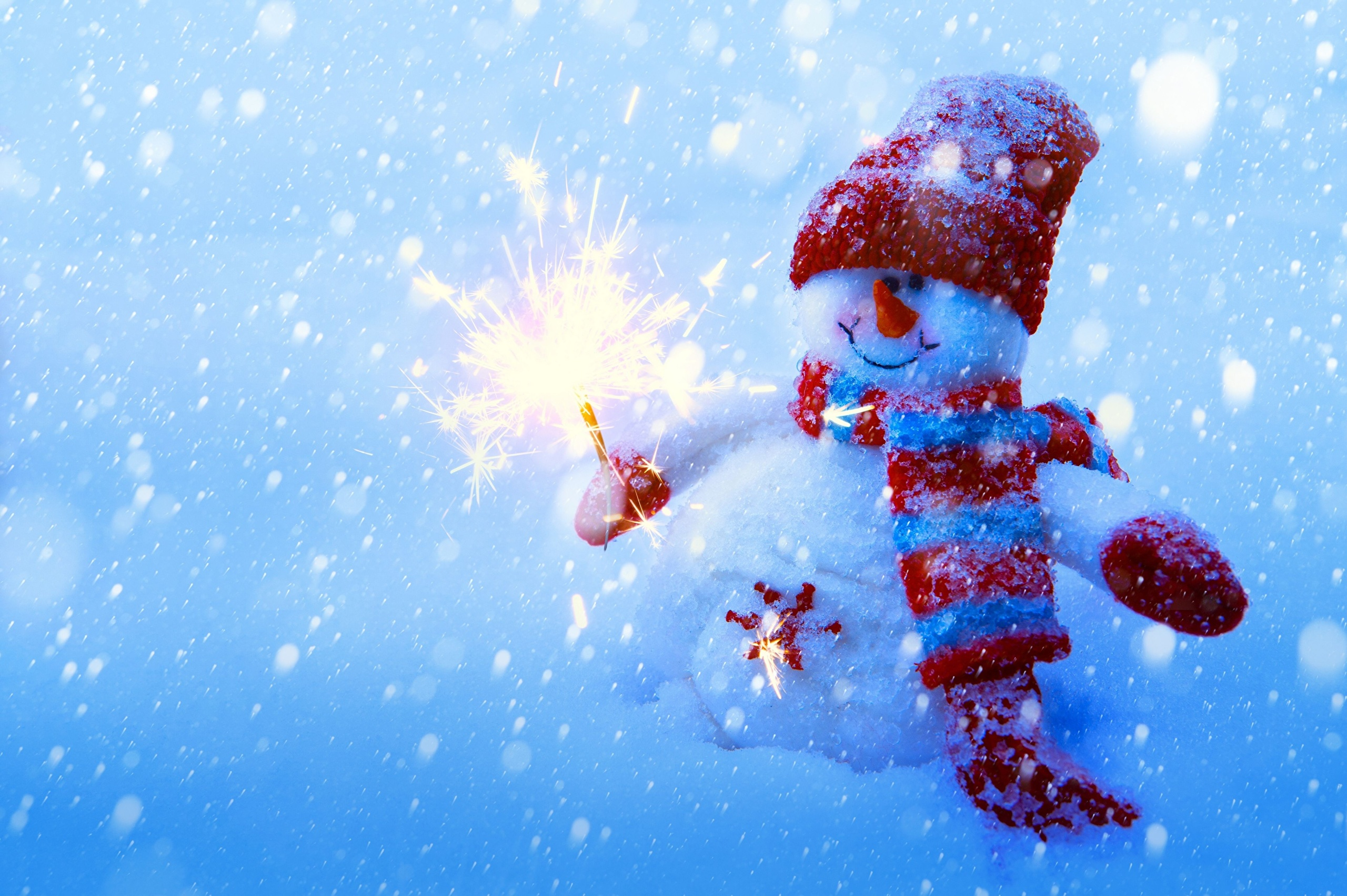 Снеговик фонарь снег горы Snowman lantern snow mountains без смс