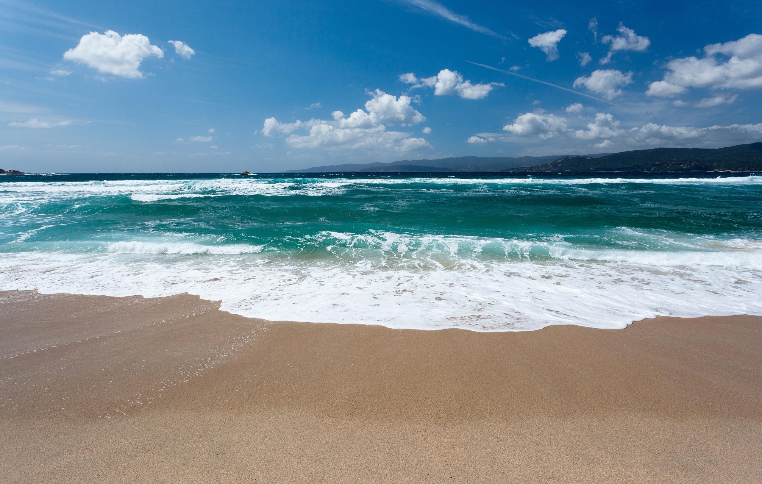природа небо море песок берег бесплатно