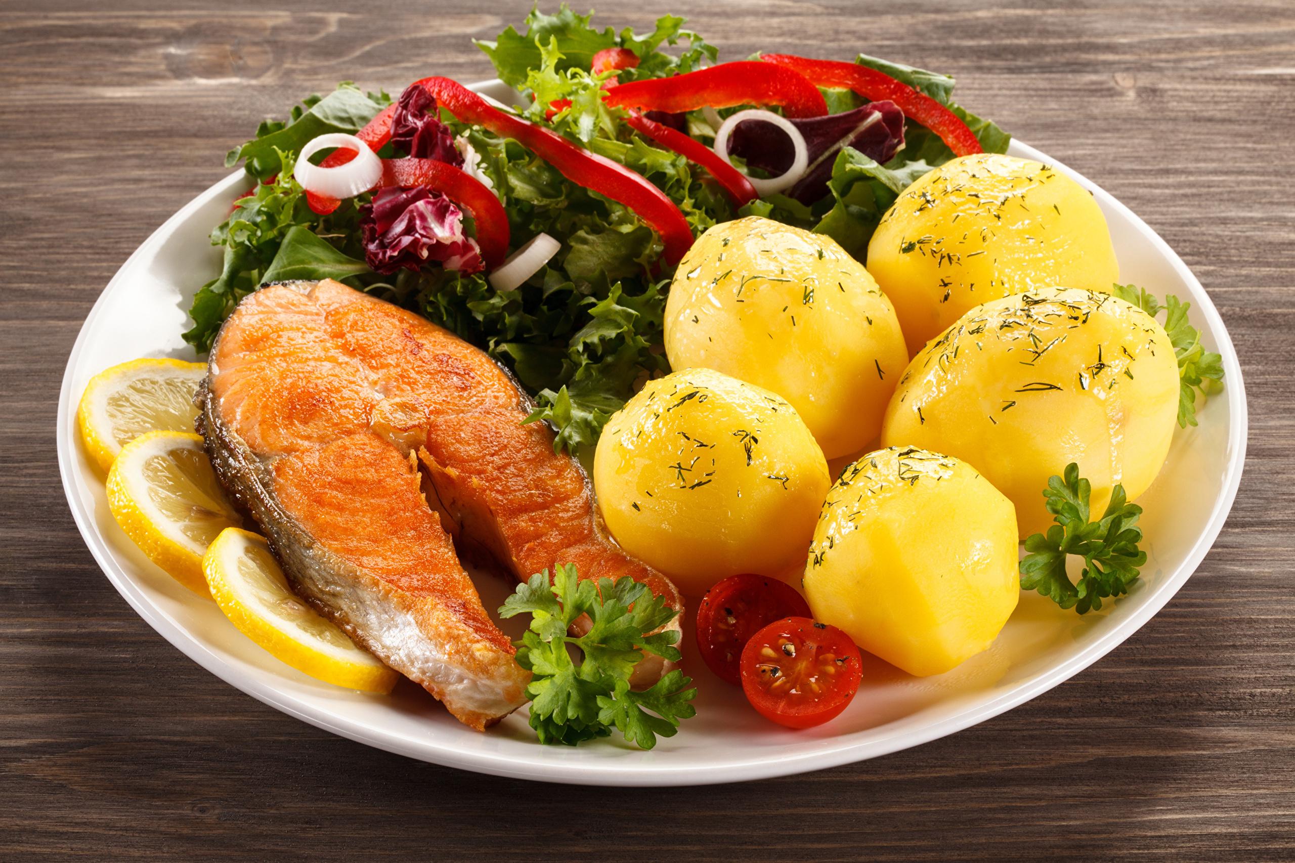еда котлеты картошка салат скачать