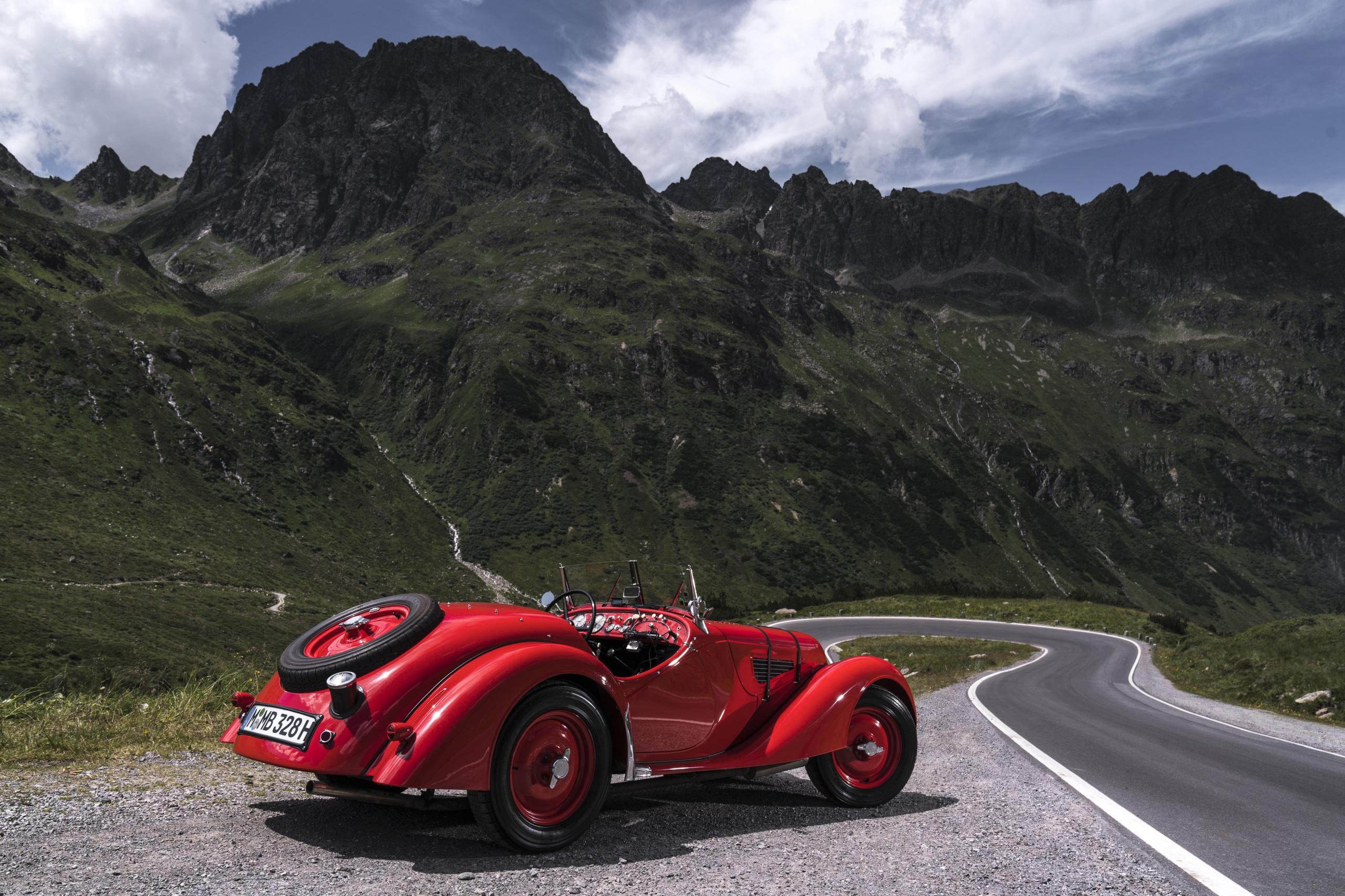 Фотографии БМВ 1936-40 328 Roadster Родстер Ретро красных машины Металлик 2560x1707 BMW Винтаж Красный красные красная старинные авто машина автомобиль Автомобили