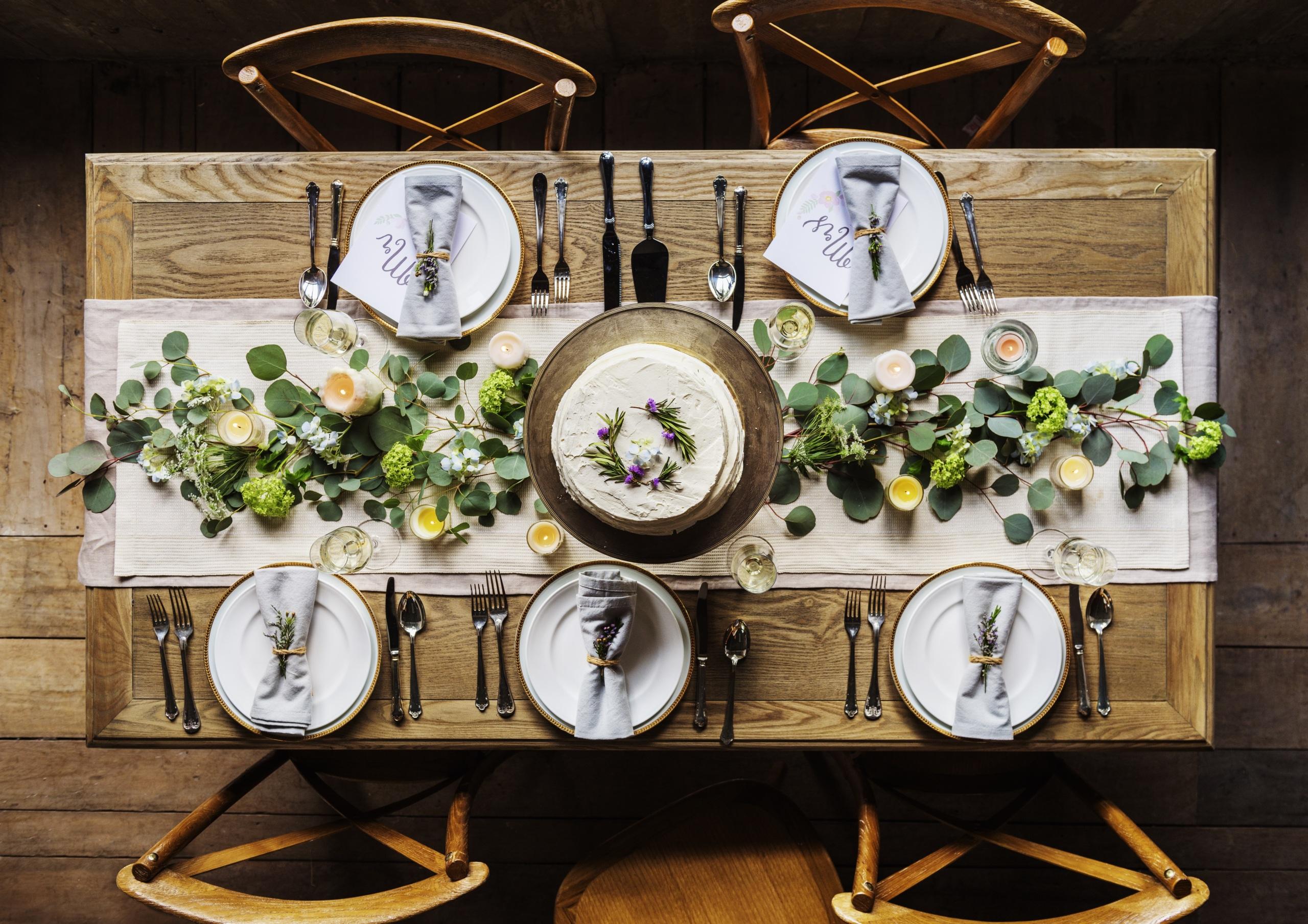 Обои тарелка, стол, свечи. Разное foto 17