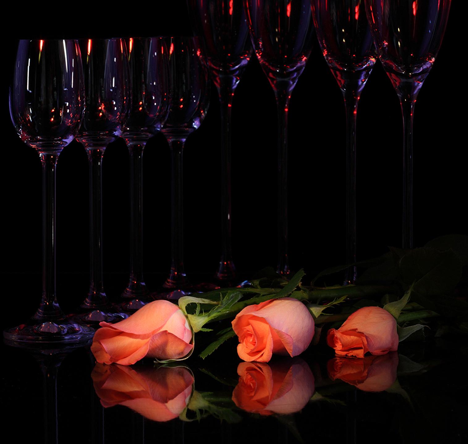 Роза в бокале загрузить