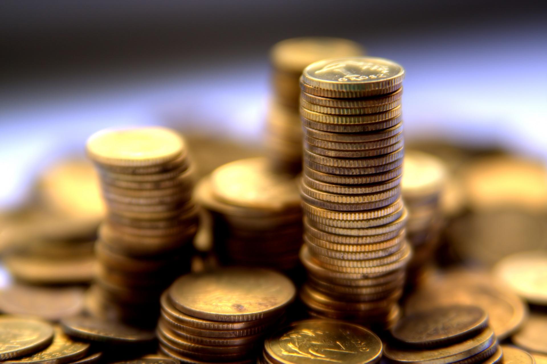 Фото Монеты Размытый фон Деньги Много Крупным планом 1920x1278 боке вблизи