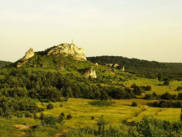Фотографии Польша Gmina Bukowina Tatrzańska гора Природа Пейзаж 600x450 Горы