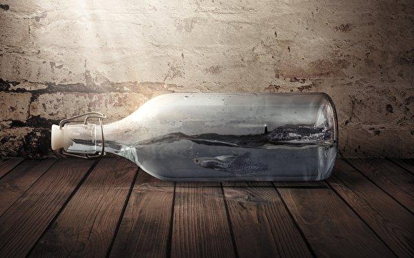 Фото Рыбы оригинальные бутылки 600x375 Креатив креативные Бутылка
