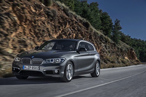 Фотография БМВ 2015 120d Urban Line серая Автомобили 600x400 BMW Серый серые авто машины машина автомобиль
