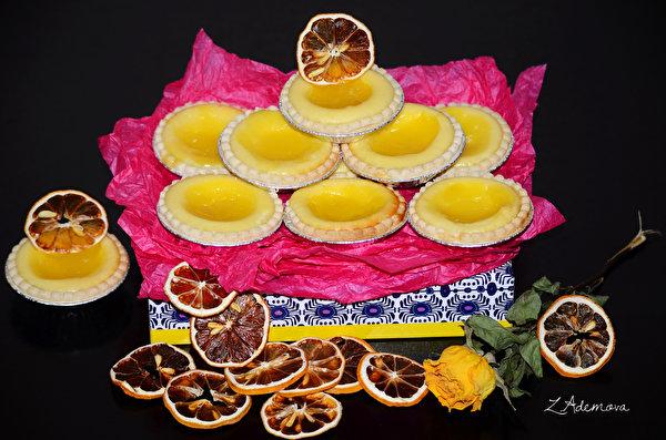 Фотография Лимоны Еда Печенье Выпечка 600x397 Пища Продукты питания