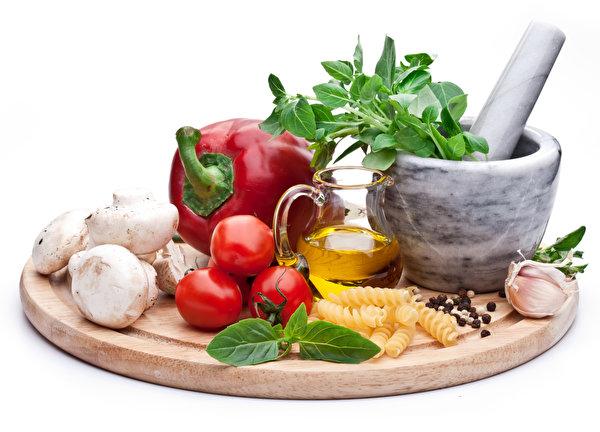 Картинка Помидоры Чеснок кувшины Еда Овощи Перец 600x432 Томаты Кувшин Пища перец овощной Продукты питания
