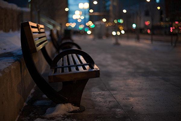 скамейка ночь загрузить