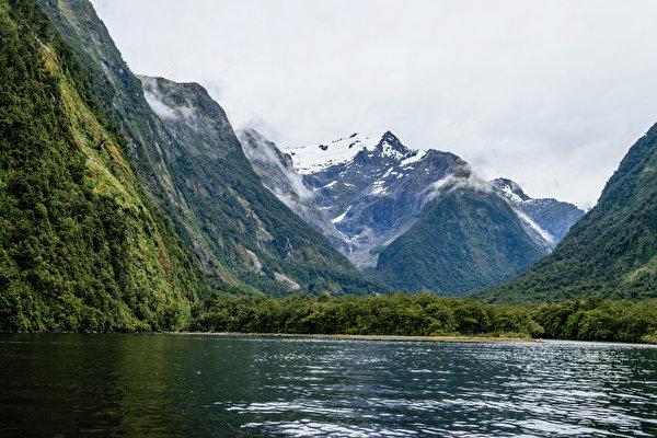Новая зеландия Hd: Фото Новая Зеландия Harrison Cove Milford Горы Природа