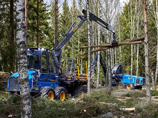 Обои для рабочего стола Форвардер Rottne F11D, Rottne H11D 8WD Леса 600x450 лес