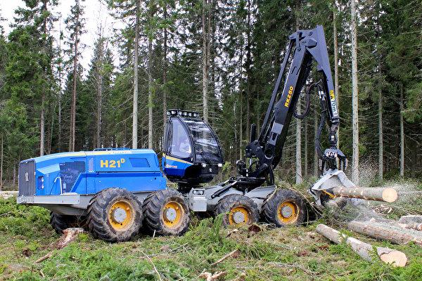 Фотографии Форвардер 2013-18 Rottne H21D бревно лес 600x400 Бревна Леса