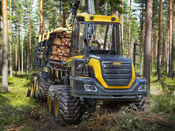 Фотографии Форвардер 2014-17 Ponsse Buffalo 8w Природа лес 600x450 Леса