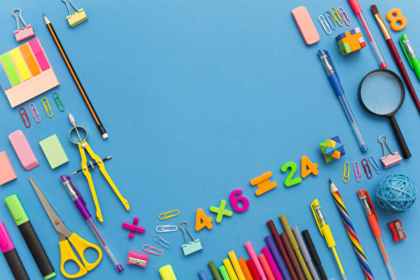 Фотография школьные карандашей Шариковая ручка Цветной фон 600x400 Школа карандаш Карандаши карандаша