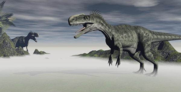 Обои для рабочего стола Тираннозавр рекс динозавр 3D Графика 600x307 Динозавры 3д