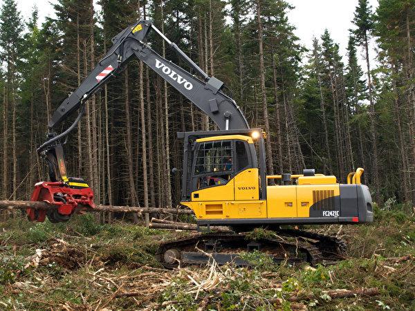 Фотографии Volvo Форвардер 2007-12 FC2421C Деревья 600x450 Вольво дерево дерева деревьев