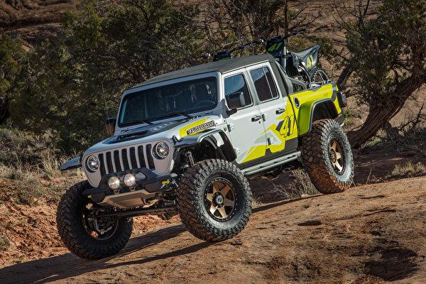 Обои для рабочего стола Джип Тюнинг SUV 2019 Flatbill Пикап кузов Автомобили 600x400 Jeep Стайлинг Внедорожник авто машины машина автомобиль