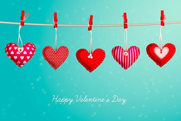 Фотографии День всех влюблённых Английский Сердце Прищепки Слово - Надпись 600x400 День святого Валентина английская инглийские серце сердца сердечко слова текст
