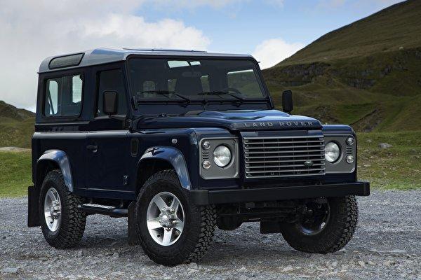 Фотография Range Rover SUV 2013, Defender 90 черная машины 600x400 Land Rover Внедорожник Черный черные черных авто машина Автомобили автомобиль
