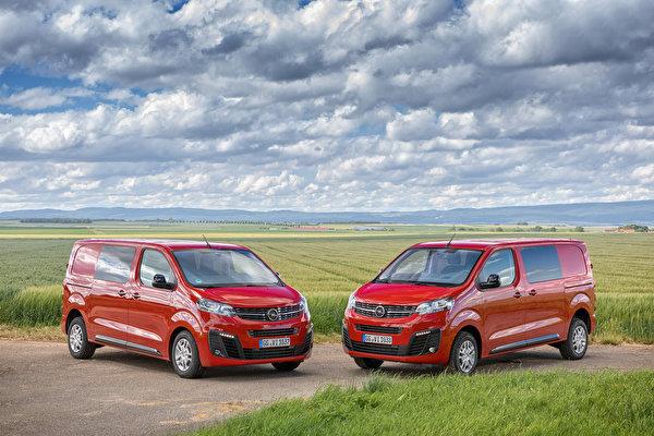 Фото Opel 2019-20 Vivaro Минивэн два красные Металлик Автомобили 600x400 Опель 2 две Двое вдвоем красная Красный красных авто машины машина автомобиль