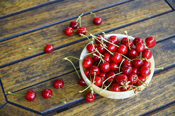 Обои для рабочего стола красная Вишня Пища Ягоды Чашка Много 600x400 Красный красные красных Черешня Еда чашке Продукты питания